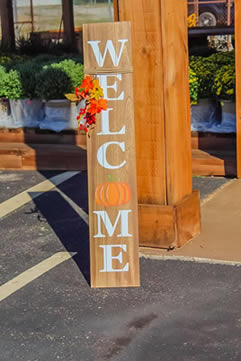 fall welcome sign for sale